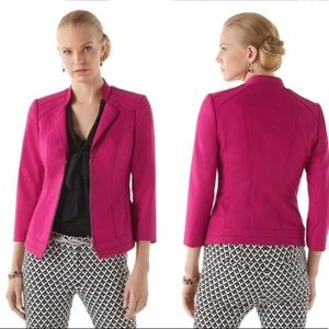 WHBM Couture Pink Perfect Form Jacket Blazer